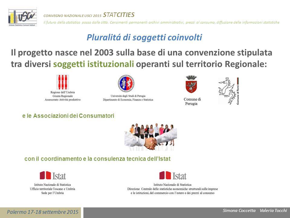 Pluralitá di soggetti coinvolti Il progetto nasce nel 2003 sulla base di una convenzione stipulata tra diversi soggetti istituzionali operanti sul ter