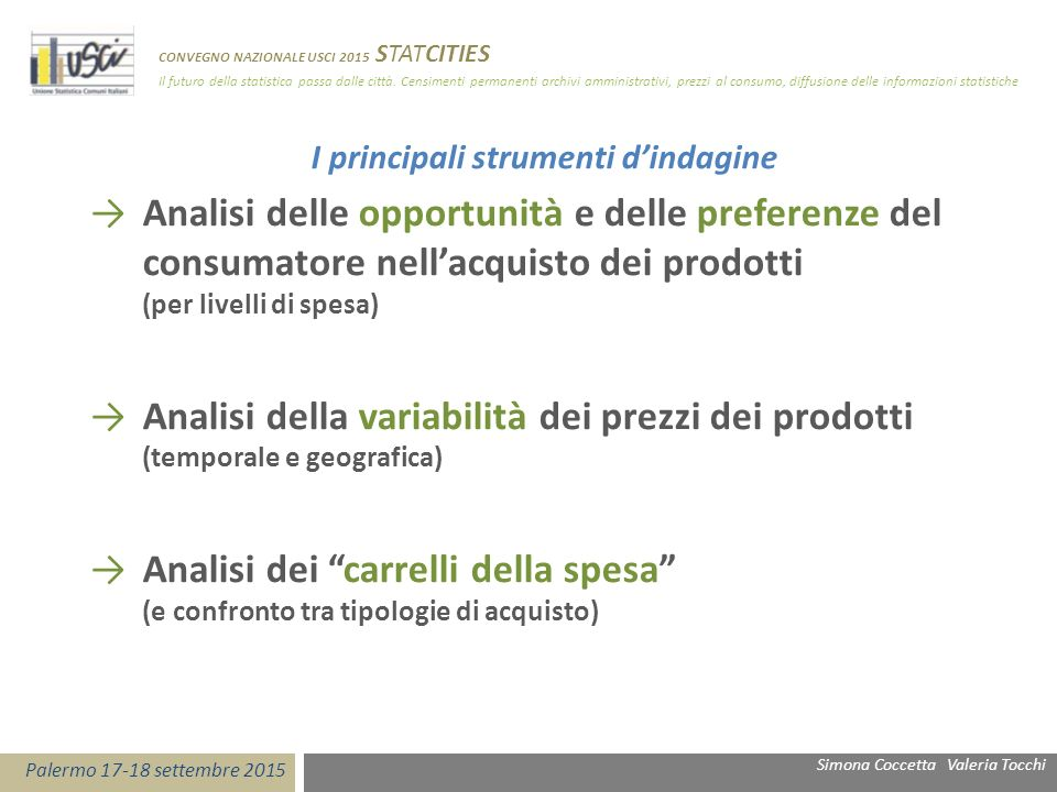 I principali strumenti d'indagine →Analisi delle opportunità e delle preferenze del consumatore nell'acquisto dei prodotti (per livelli di spesa) →Ana