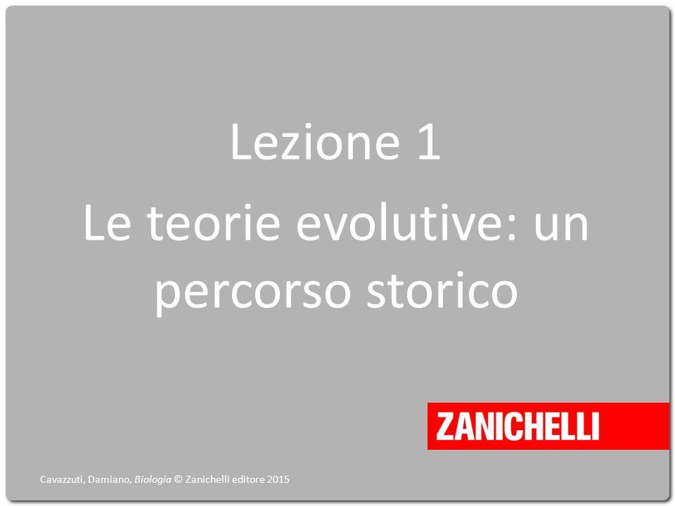 Lezione 1 Le teorie evolutive: un percorso storico Cavazzuti, Damiano, Biologia © Zanichelli editore 2015