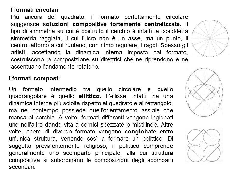 I formati circolari Più ancora del quadrato, il formato perfettamente circolare suggerisce soluzioni compositive fortemente centralizzate. Il tipo di