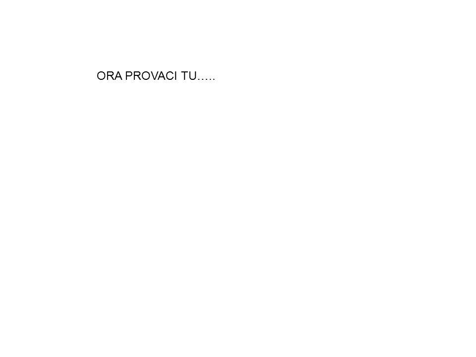 ORA PROVACI TU…..