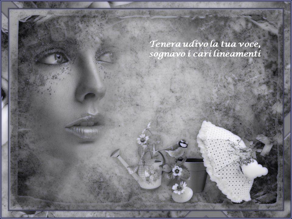 Tenera udivo la tua voce, sognavo i cari lineamenti