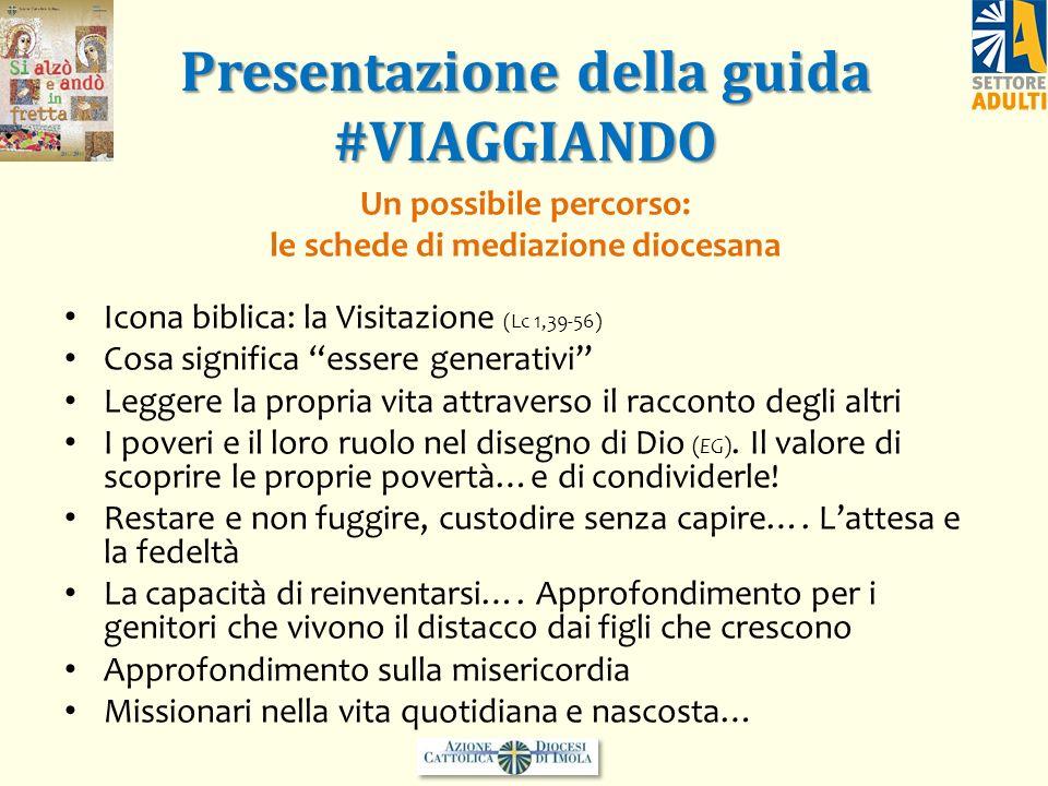 Presentazione della guida #VIAGGIANDO Un possibile percorso: le schede di mediazione diocesana Icona biblica: la Visitazione (Lc 1,39-56) Cosa signifi