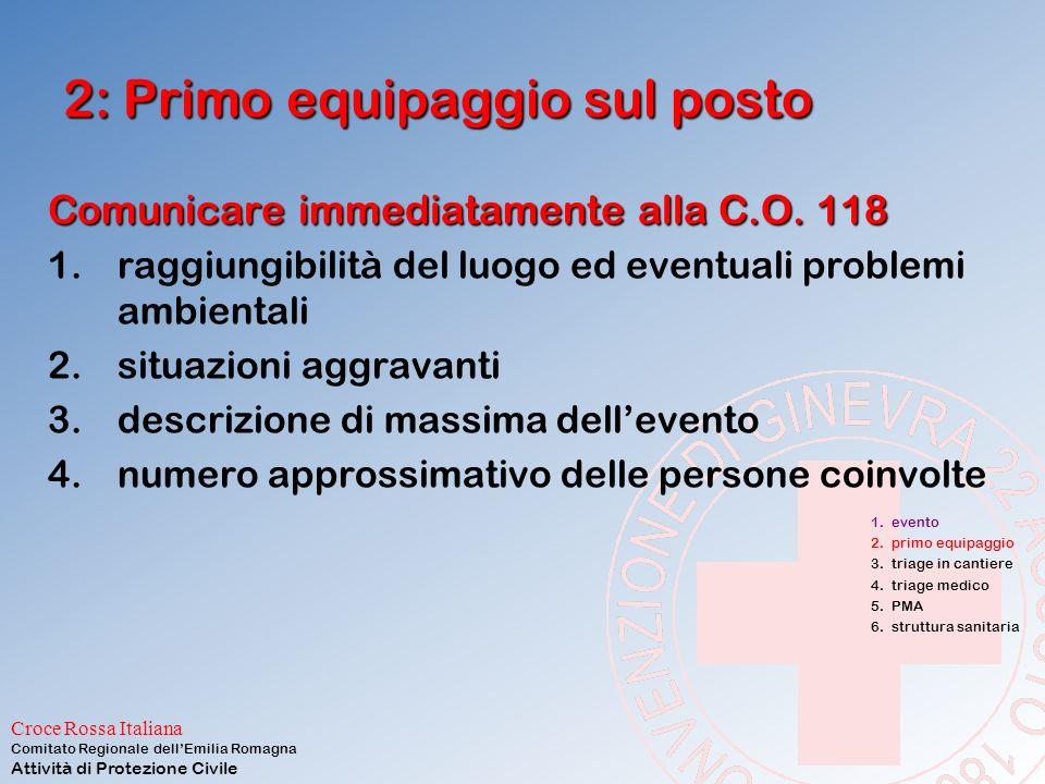 Croce Rossa Italiana Comitato Regionale dell'Emilia Romagna Attività di Protezione Civile Inizia subito dopo l'evento E' caratterizzata da reazioni in