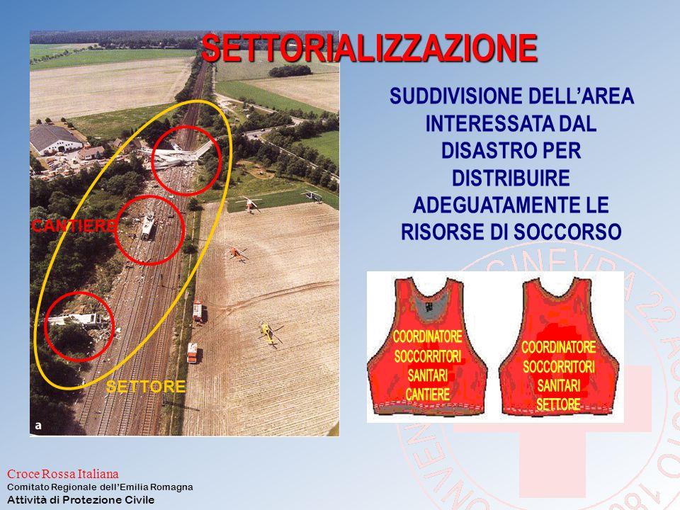 Croce Rossa Italiana Comitato Regionale dell'Emilia Romagna Attività di Protezione Civile 3: Triage in cantiere verde cammina?siverde rosso è coscient