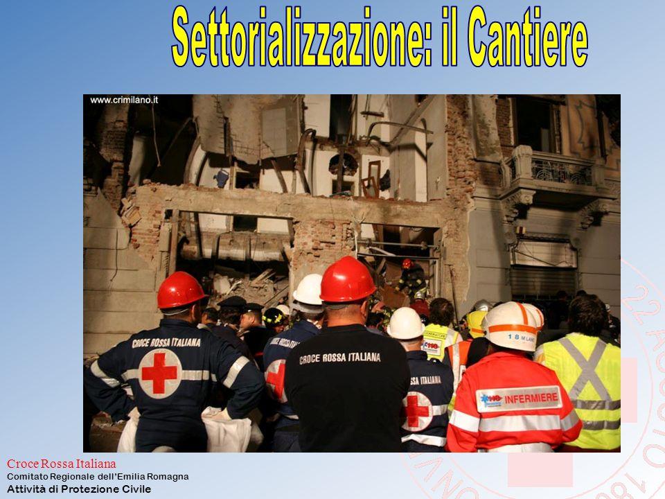 Croce Rossa Italiana Comitato Regionale dell'Emilia Romagna Attività di Protezione Civile SETTORIALIZZAZIONE