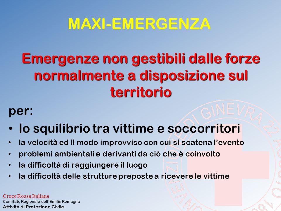 Croce Rossa Italiana Comitato Regionale dell'Emilia Romagna Attività di Protezione Civile Alcune precisazioni La lezione è una traccia per chiarire al