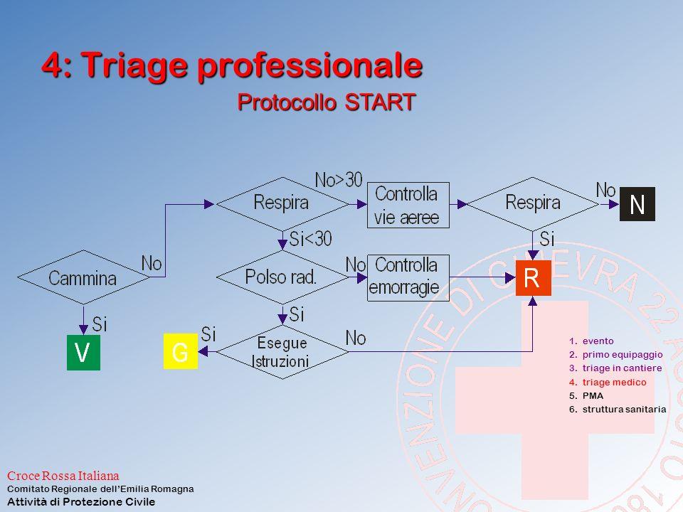 Croce Rossa Italiana Comitato Regionale dell'Emilia Romagna Attività di Protezione Civile 4: Triage medico nido di triage attiverà un nido di triage p