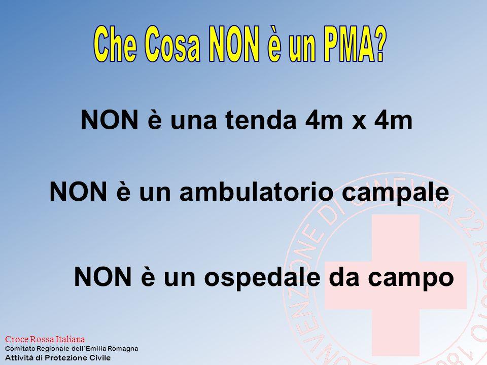 Croce Rossa Italiana Comitato Regionale dell'Emilia Romagna Attività di Protezione Civile 5: PMA Deve fornire: triage cure per garantire la sopravvive