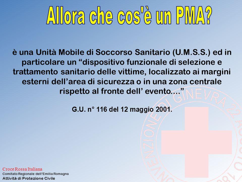 Croce Rossa Italiana Comitato Regionale dell'Emilia Romagna Attività di Protezione Civile NON è un ospedale da campo NON è un ambulatorio campale NON