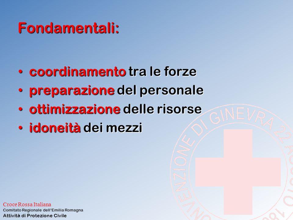 Croce Rossa Italiana Comitato Regionale dell'Emilia Romagna Attività di Protezione Civile INCIDENTE MAGGIORE: E' richiesta un'organizzazione dei socco