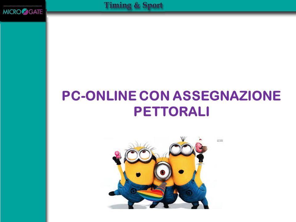 PC-ONLINE CON ASSEGNAZIONE PETTORALI