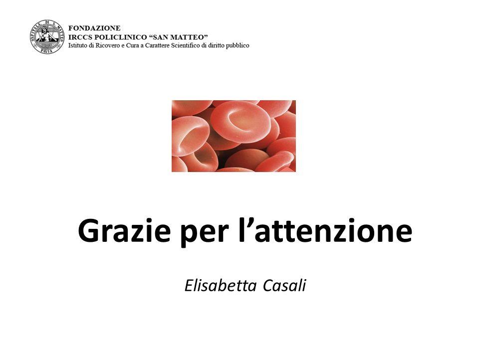 Grazie per l'attenzione Elisabetta Casali