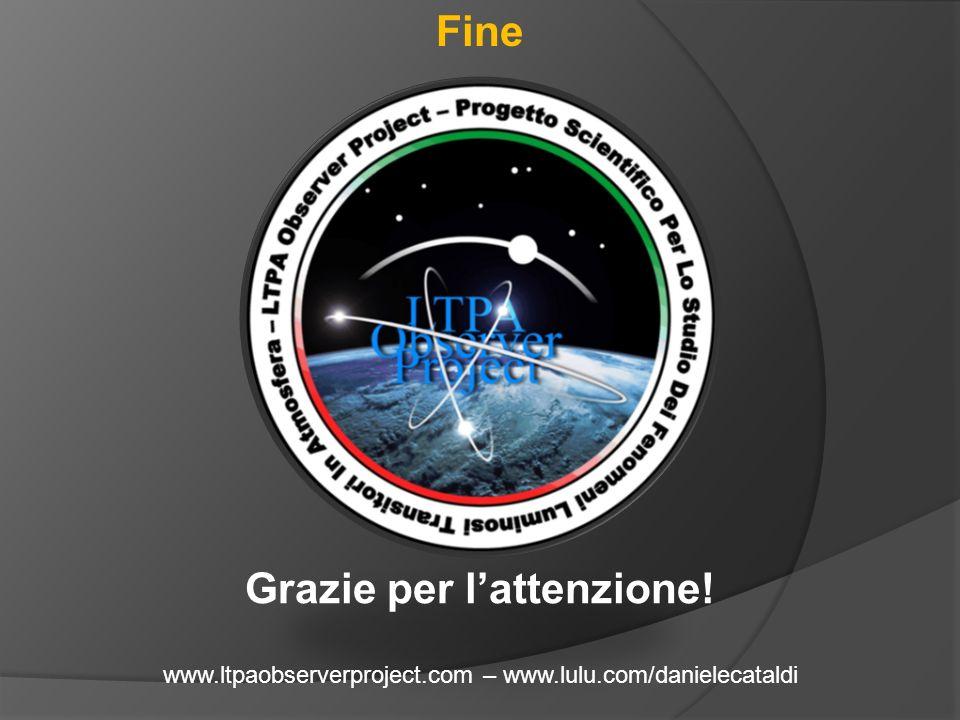 Fine Grazie per l'attenzione! www.ltpaobserverproject.com – www.lulu.com/danielecataldi