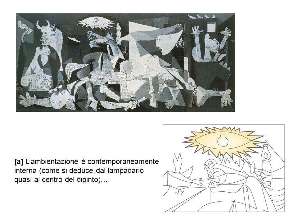 [a] L'ambientazione è contemporaneamente interna (come si deduce dal lampadario quasi al centro del dipinto)…