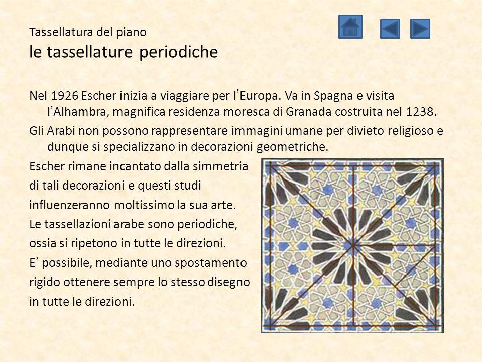 Tassellatura del piano le tassellature periodiche Nel 1926 Escher inizia a viaggiare per l'Europa. Va in Spagna e visita l'Alhambra, magnifica residen