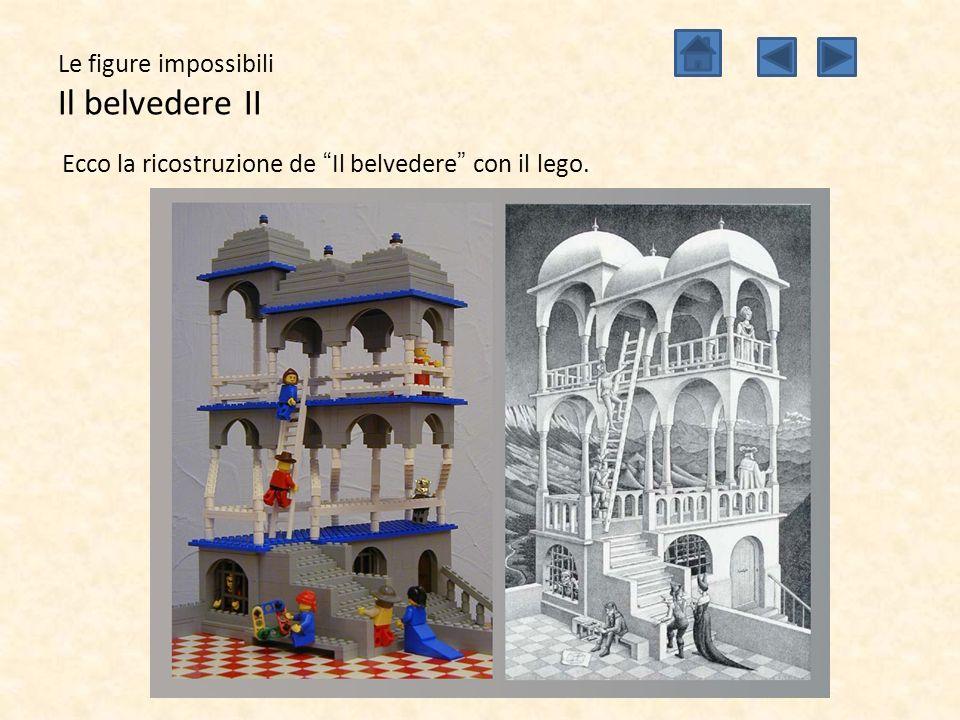 """Le figure impossibili Il belvedere II Ecco la ricostruzione de """"Il belvedere"""" con il lego."""