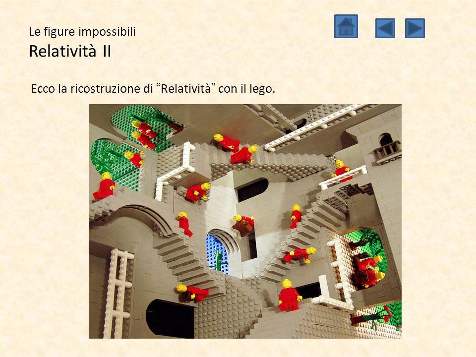 """Le figure impossibili Relatività II Ecco la ricostruzione di """"Relatività"""" con il lego."""