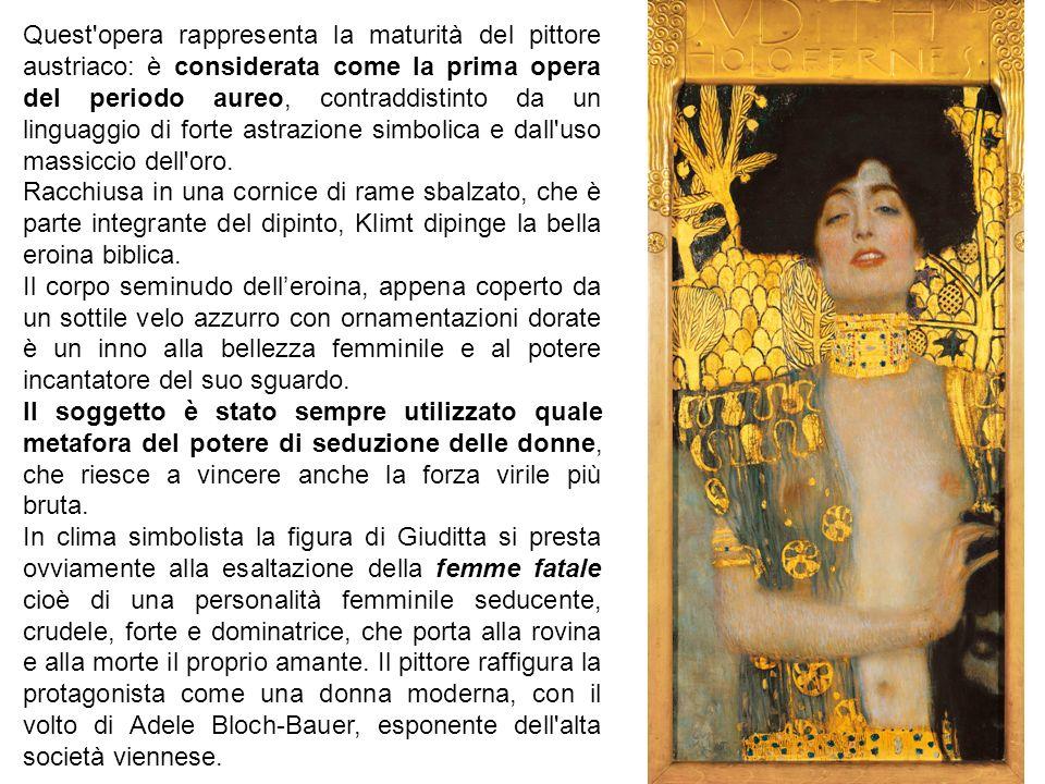 Quest'opera rappresenta la maturità del pittore austriaco: è considerata come la prima opera del periodo aureo, contraddistinto da un linguaggio di fo