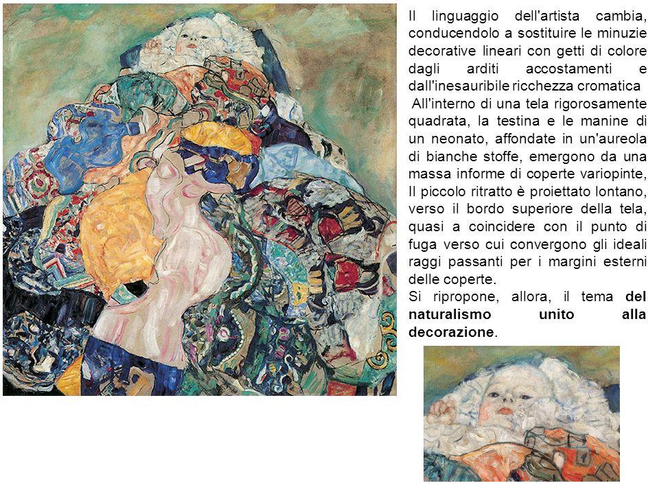 Il linguaggio dell'artista cambia, conducendolo a sostituire le minuzie decorative lineari con getti di colore dagli arditi accostamenti e dall'inesau