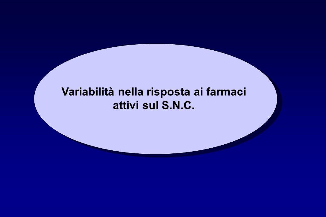 Variabilità nella risposta ai farmaci attivi sul S.N.C.
