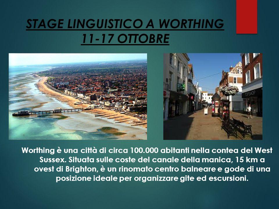 Worthing è una città di circa 100.000 abitanti nella contea del West Sussex. Situata sulle coste del canale della manica, 15 km a ovest di Brighton, è
