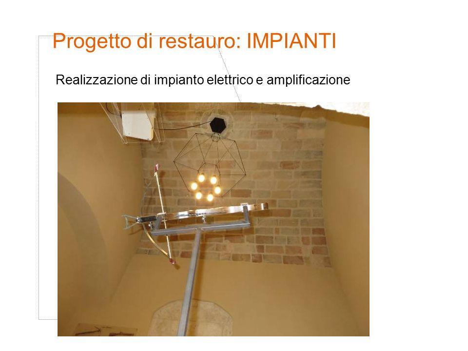 Progetto di restauro: IMPIANTI Realizzazione di impianto elettrico e amplificazione