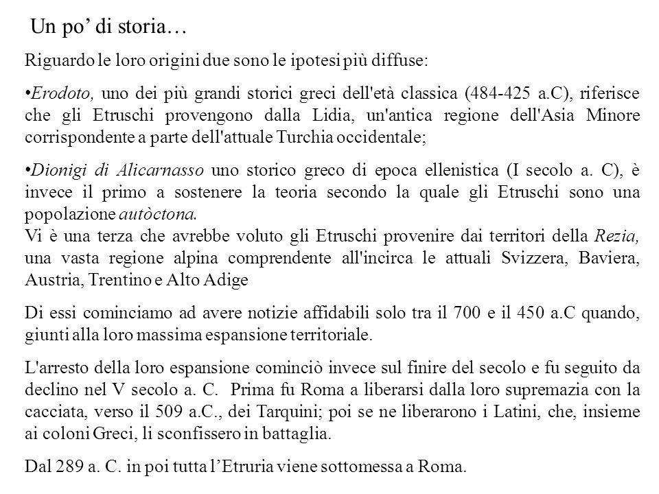Riguardo le loro origini due sono le ipotesi più diffuse: Erodoto, uno dei più grandi storici greci dell'età classica (484-425 a.C), riferisce che gli