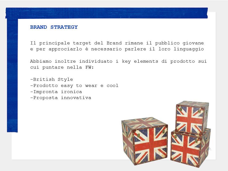 BRAND STRATEGY Il principale target del Brand rimane il pubblico giovane e per approciarlo è necessario parlere il loro linguaggio Abbiamo inoltre ind