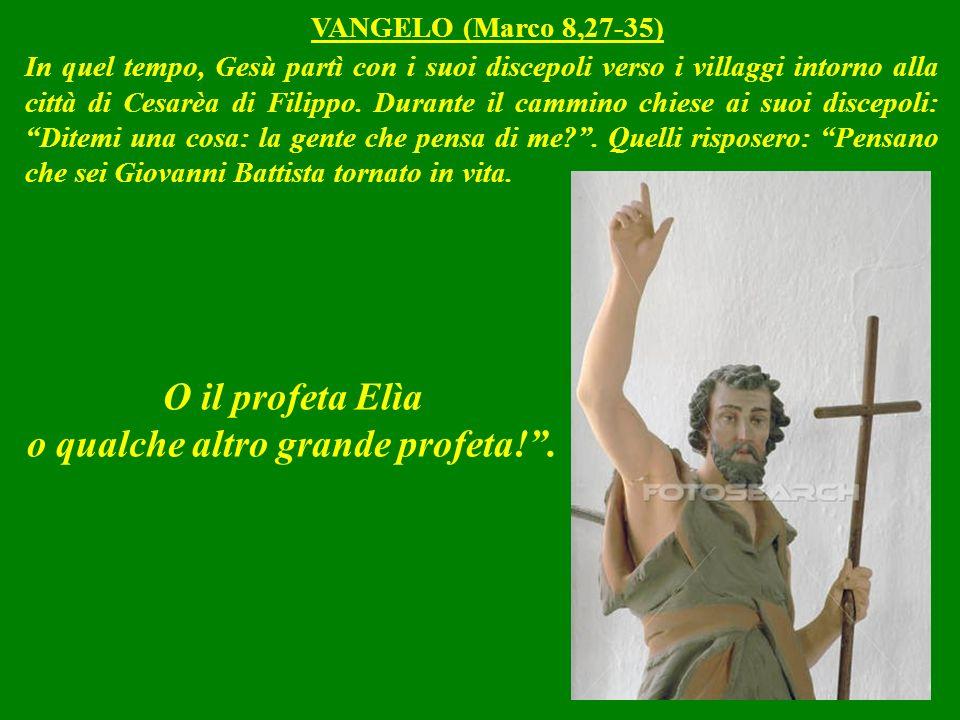 In quel tempo, Gesù partì con i suoi discepoli verso i villaggi intorno alla città di Cesarèa di Filippo.