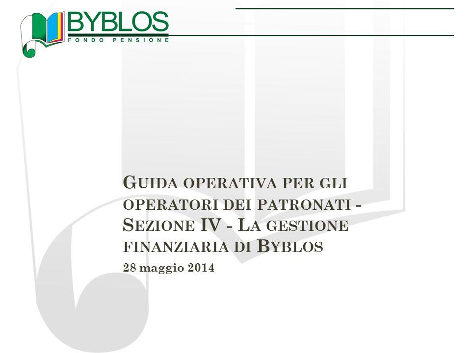 A GENDA I.La Asset Allocation strategica di Byblos II.