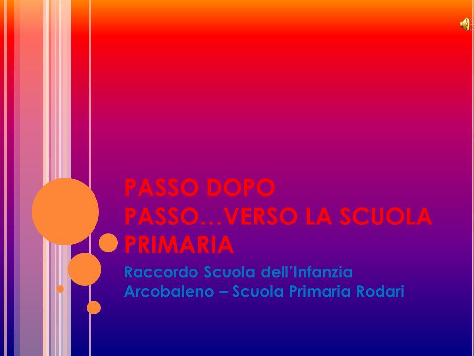 PASSO DOPO PASSO…VERSO LA SCUOLA PRIMARIA Raccordo Scuola dell'Infanzia Arcobaleno – Scuola Primaria Rodari