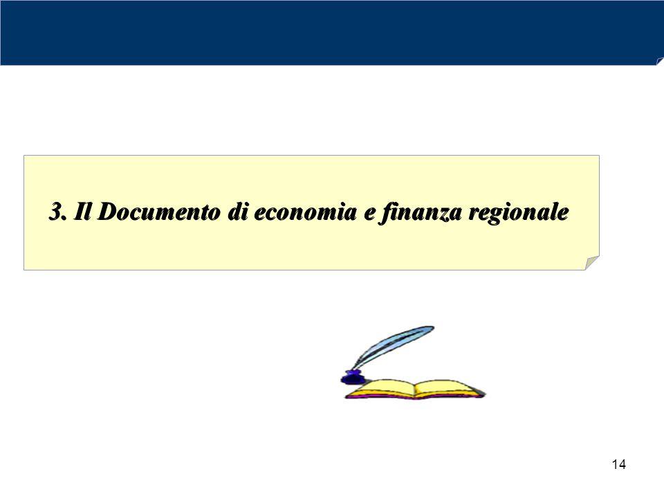 14 3. Il Documento di economia e finanza regionale