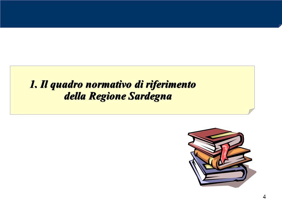 4 1. Il quadro normativo di riferimento della Regione Sardegna