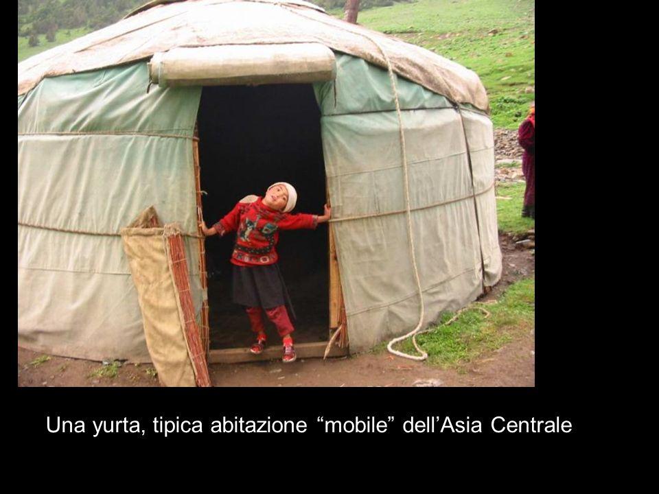Una yurta, tipica abitazione mobile dell'Asia Centrale