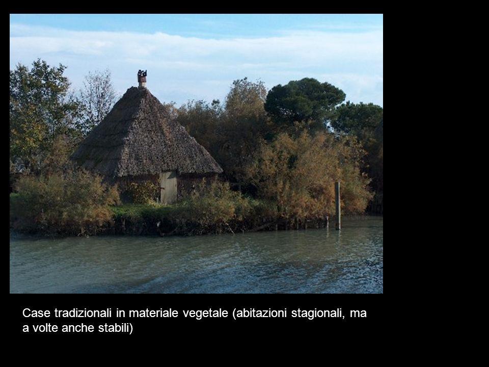 Case tradizionali in materiale vegetale (abitazioni stagionali, ma a volte anche stabili)