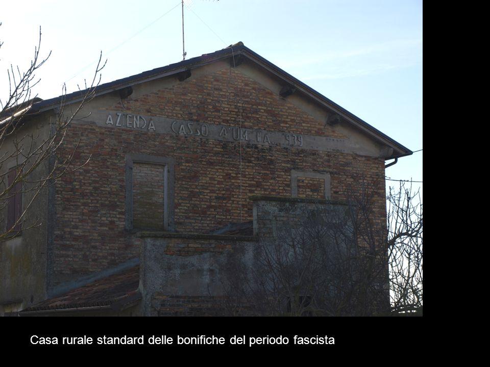 Casa rurale standard delle bonifiche del periodo fascista