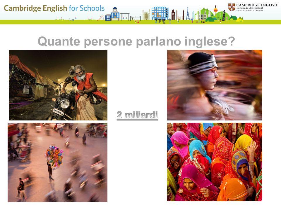 Quante persone parlano inglese?