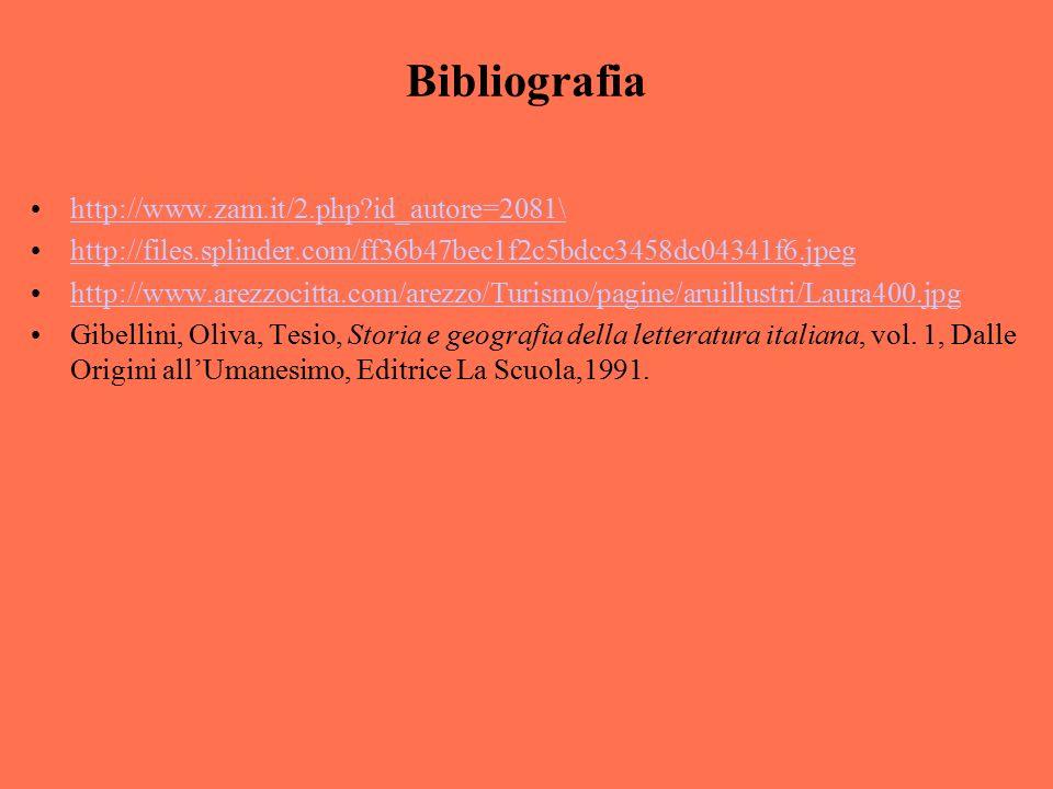 Bibliografia http://www.zam.it/2.php?id_autore=2081\ http://files.splinder.com/ff36b47bec1f2c5bdcc3458dc04341f6.jpeg http://www.arezzocitta.com/arezzo