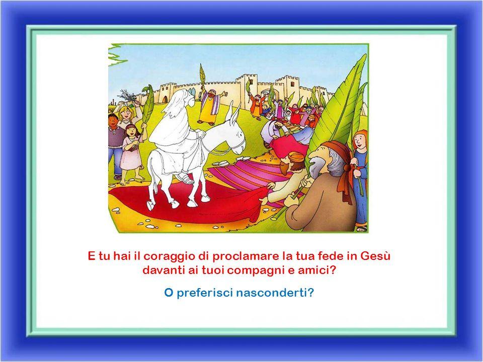 Gli abitanti di Gerusalemme accolgono Gesù come un re.