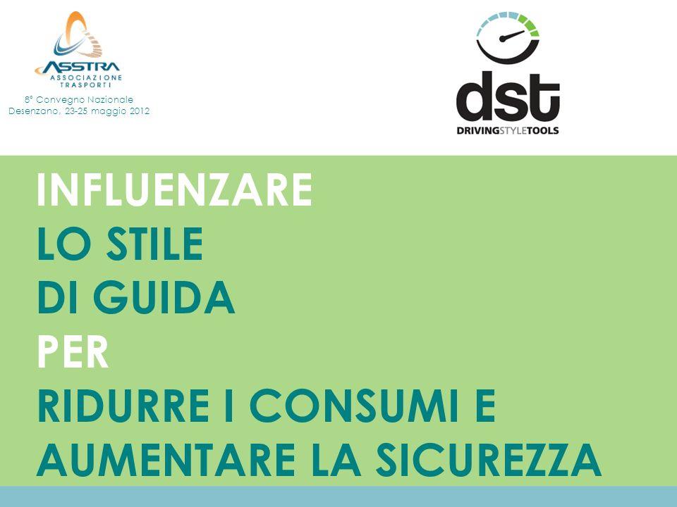 INFLUENZARE LO STILE DI GUIDA PER RIDURRE I CONSUMI E AUMENTARE LA SICUREZZA 8° Convegno Nazionale Desenzano, 23-25 maggio 2012