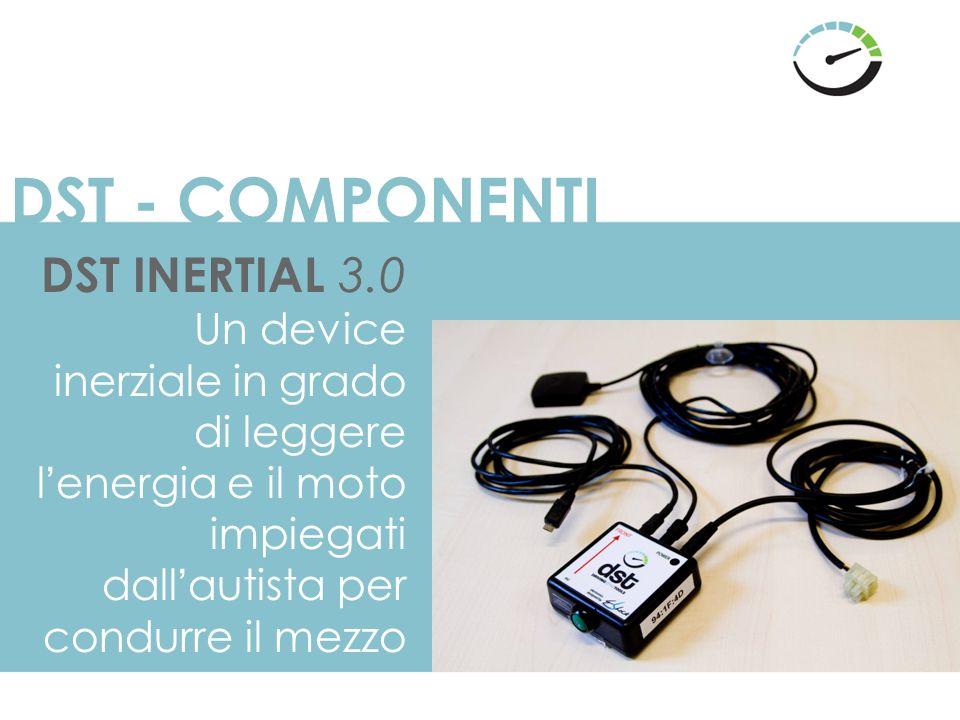 DST - COMPONENTI DST INERTIAL 3.0 Un device inerziale in grado di leggere l'energia e il moto impiegati dall'autista per condurre il mezzo