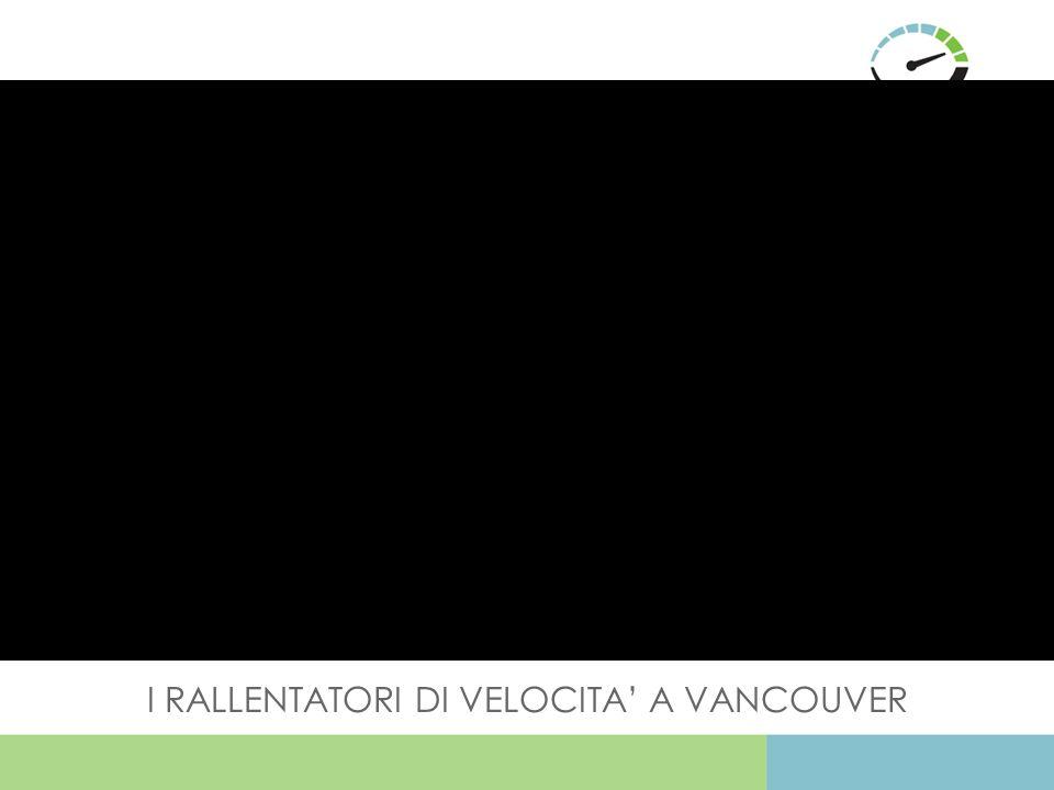 I RALLENTATORI DI VELOCITA' A VANCOUVER