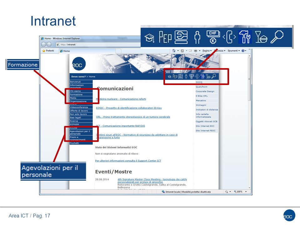 Area ICT / Pag. 17 Intranet