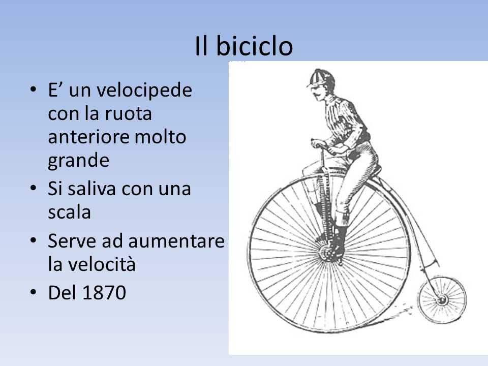 La bicicletta La novità è la trasmissione a catena Con un rapporto adeguato non serve più la ruota grande Siamo alla fine dell'800