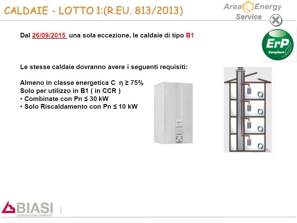 Service CALDAIE - LOTTO 1: CALDAIE - LOTTO 1:(R.EU.