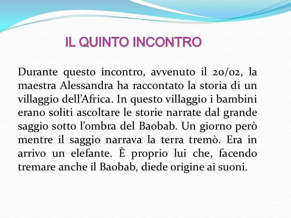 Durante questo incontro, avvenuto il 20/02, la maestra Alessandra ha raccontato la storia di un villaggio dell'Africa. In questo villaggio i bambini e