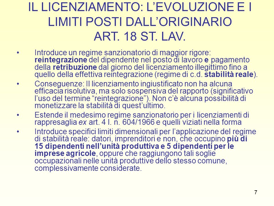 28 NOVITA' FORNERO REGIME SANZIONATORIO (NOVITA' FORNERO) Regime sanzionatorio alternativo: 1.