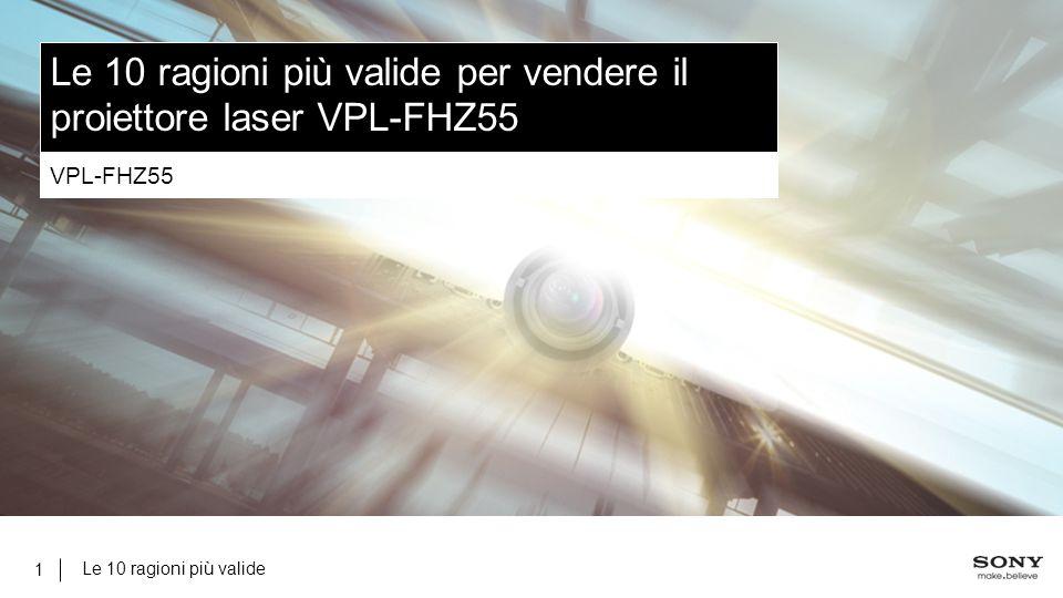 Le 10 ragioni più valide 1 Le 10 ragioni più valide per vendere il proiettore laser VPL-FHZ55 VPL-FHZ55