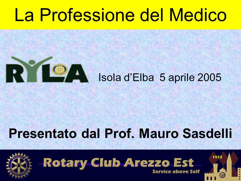 La Professione del Medico Presentato dal Prof. Mauro Sasdelli Isola d'Elba 5 aprile 2005